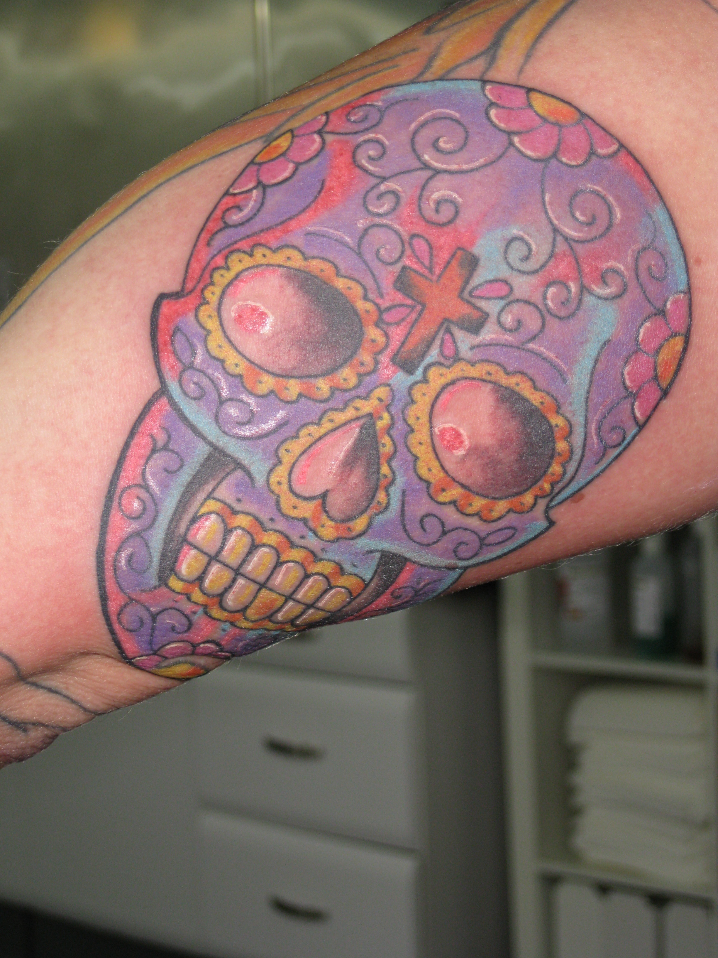 Day of The Dead Style Tattoos Mexican Day of The Dead Style