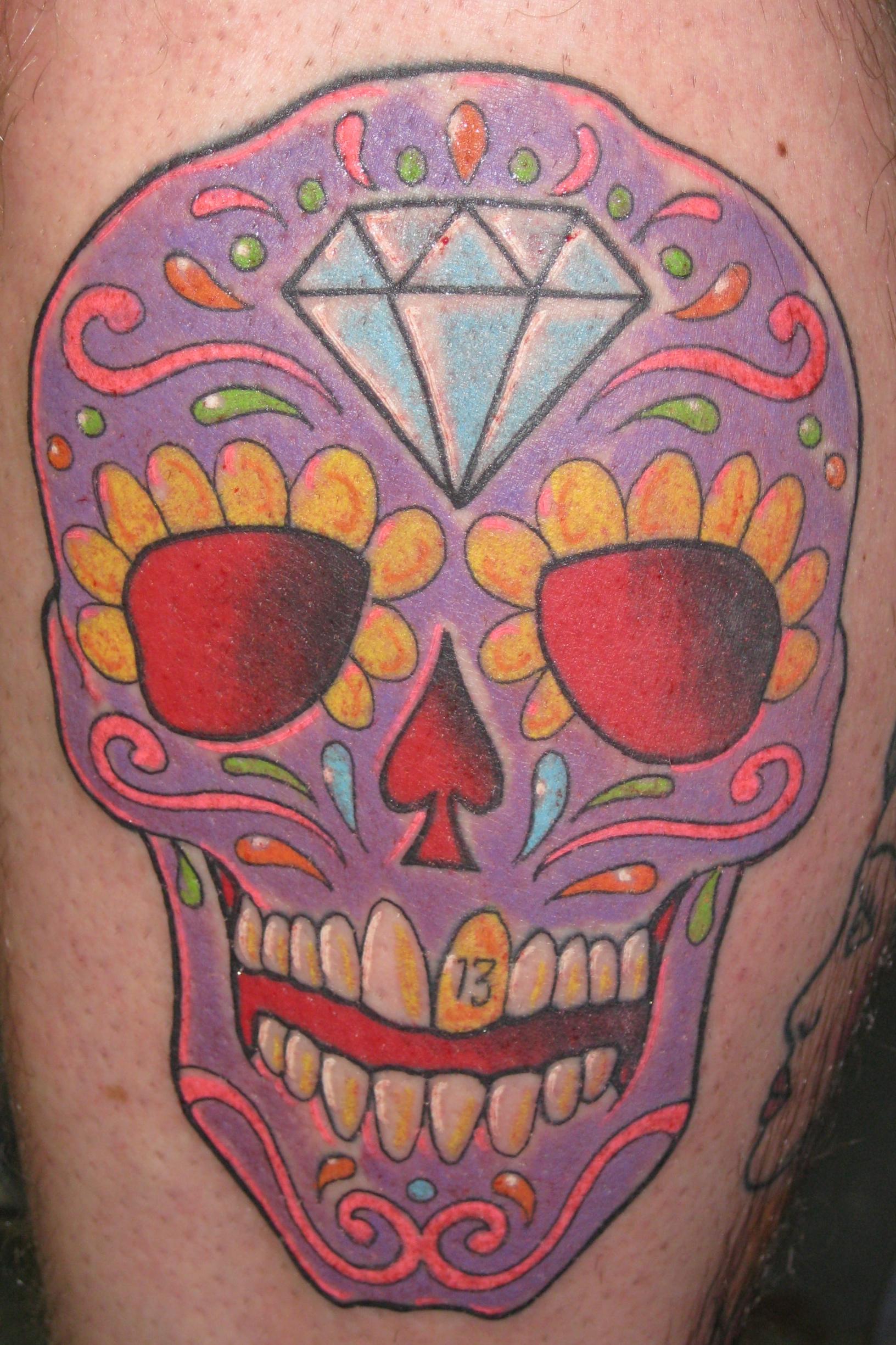irish street tattoo mexican day of the dead skull irish st tattoo. Black Bedroom Furniture Sets. Home Design Ideas