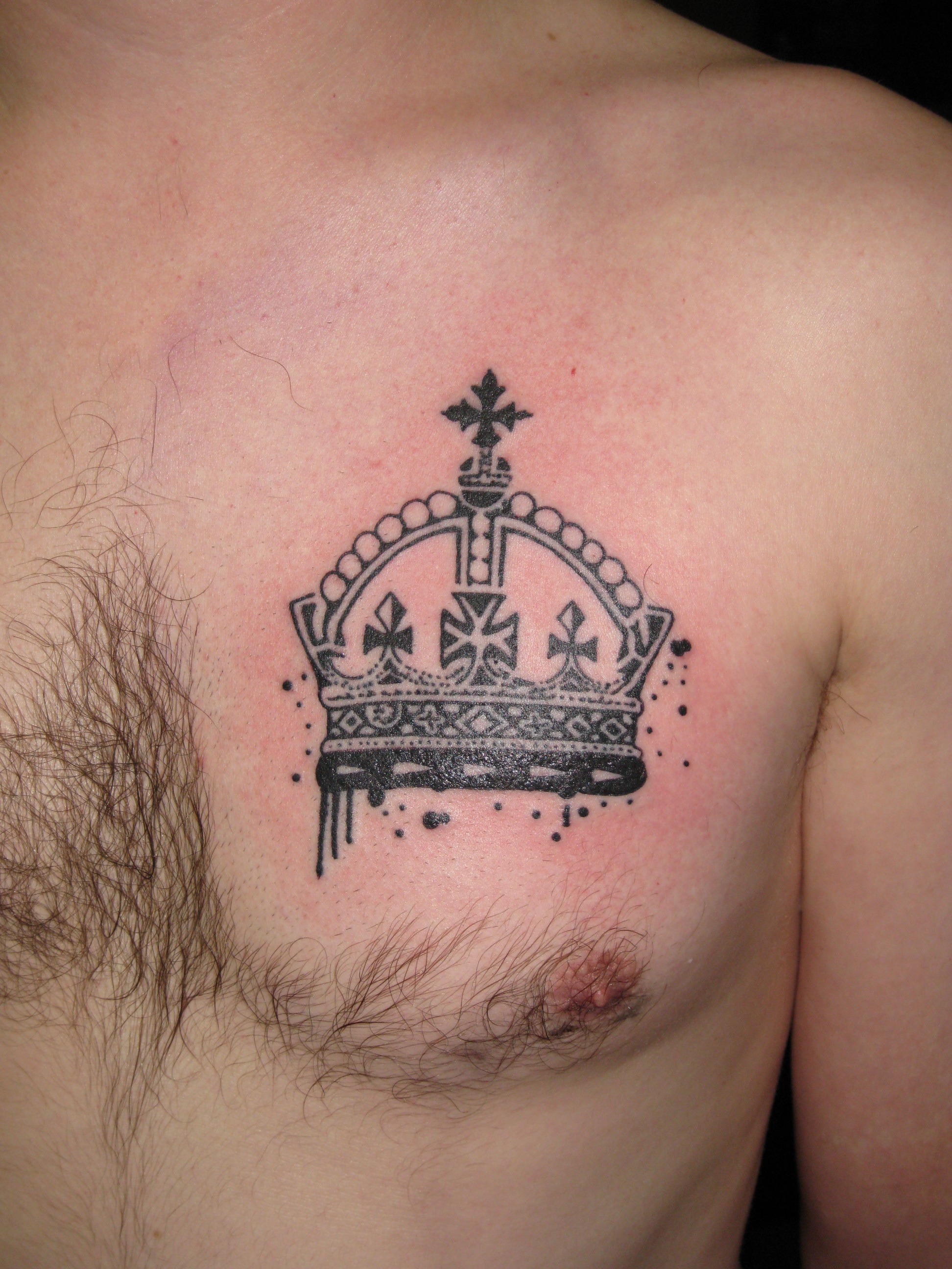 Crown tattoo flash
