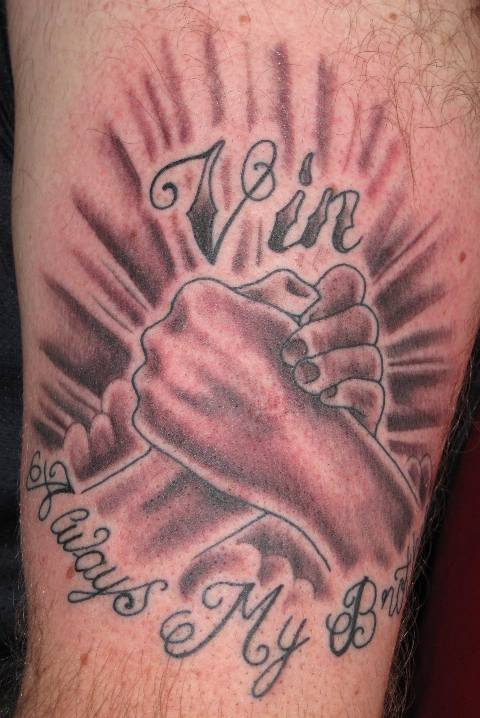 Тату для братьев на руке
