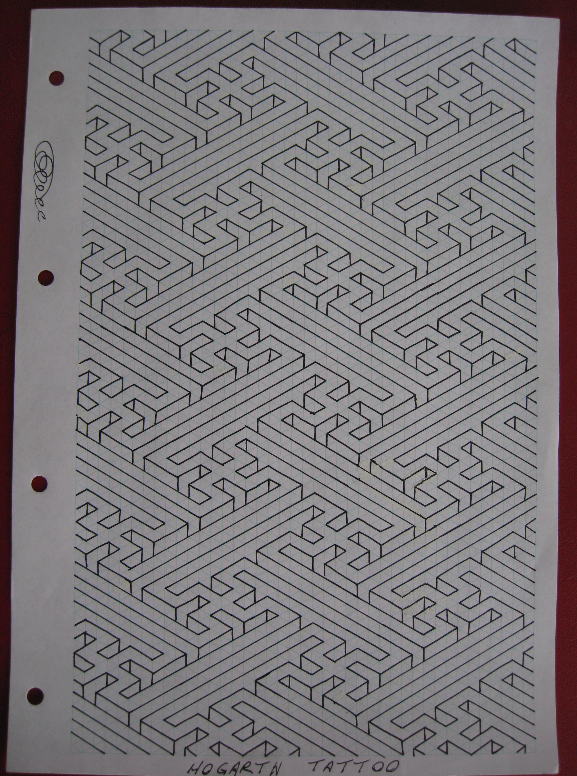 Irish pattern tattoo designs