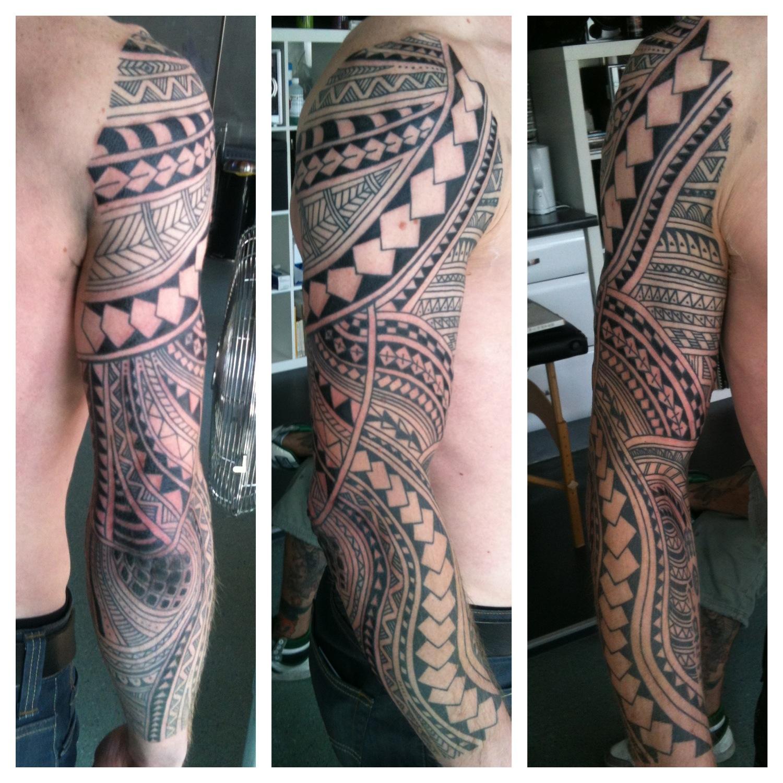 Irish St Tattoo: Irish Street Tattoo Polynesian Inspired 2/3 Sleeve