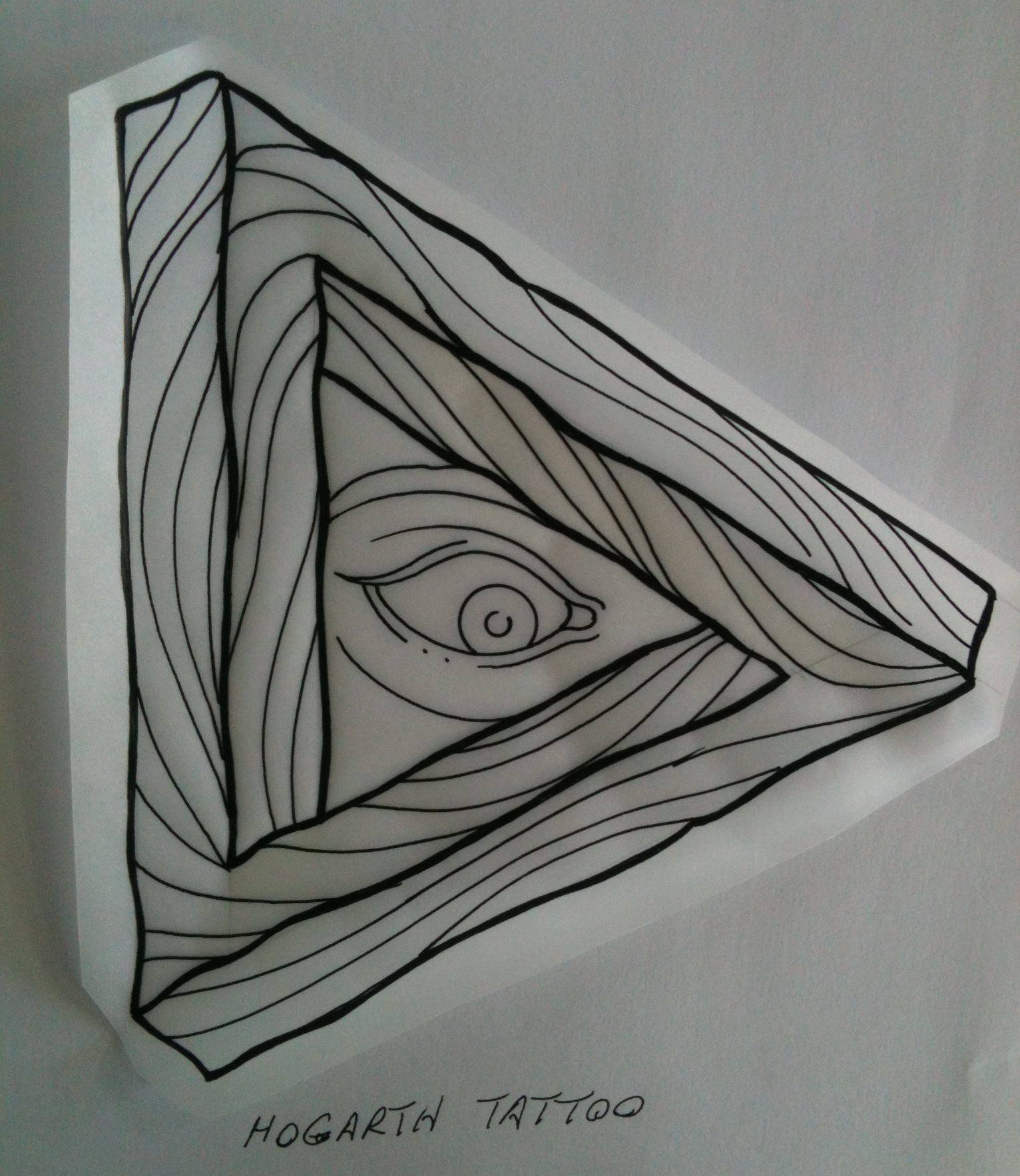 Irish Street Tattoo All Seeing Eye Impossible Triangle Wooden