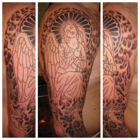 Start of an Angel sleeve.
