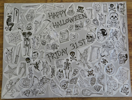 To mark Halloween 2014 I have done a sheet of Friday the 31st flash to be done at £31 each.