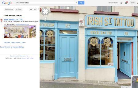 You can now check out inside of my studio. Search Irish Street Tattoo on Google Maps.
