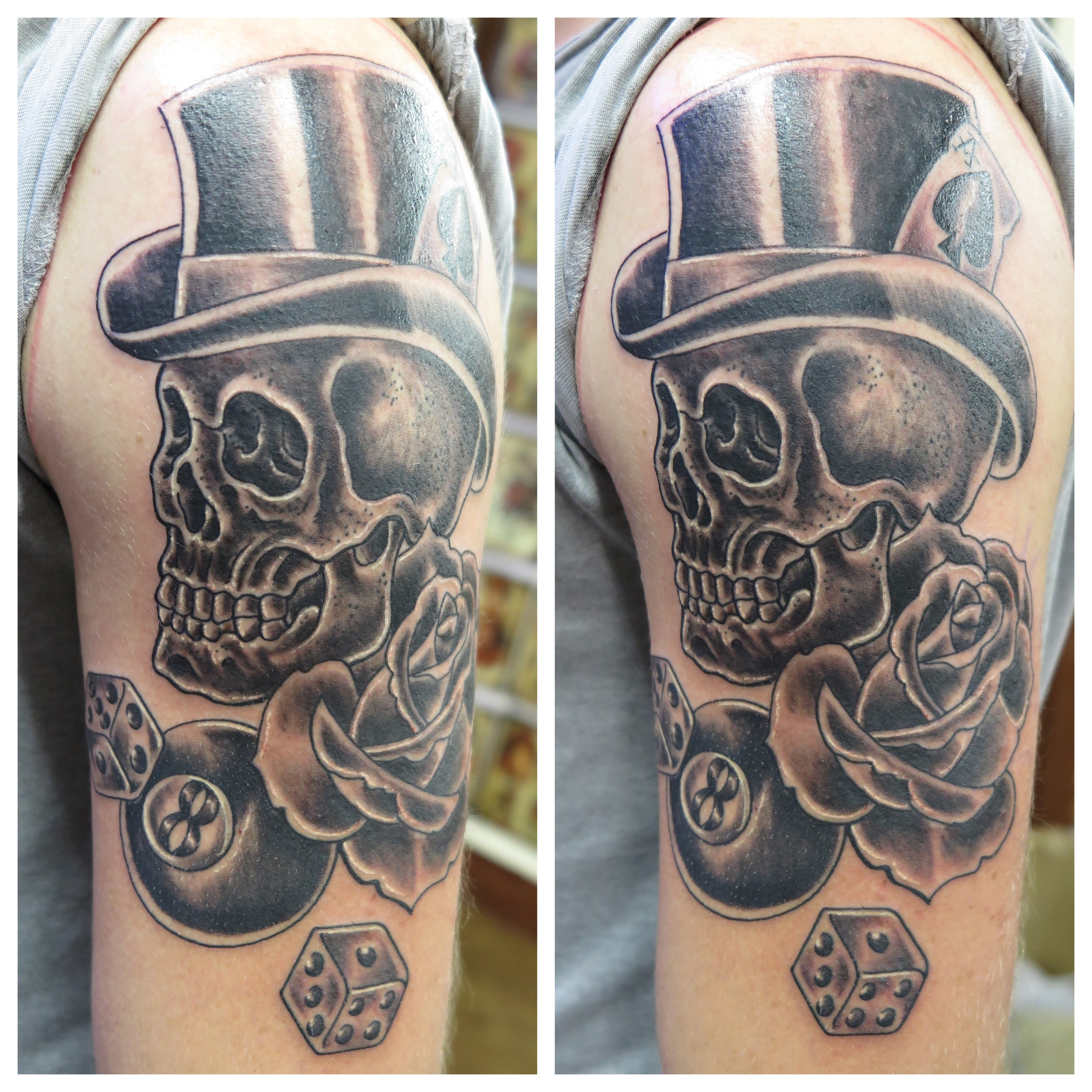 Skulls With Top Hats Skull Top Hat Tattoo