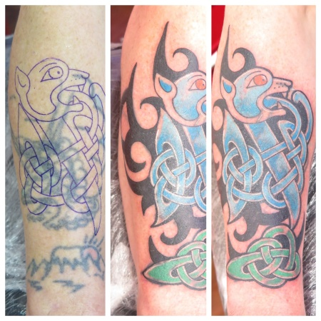 celtic cover up tattoo irish street belfast downpatrick
