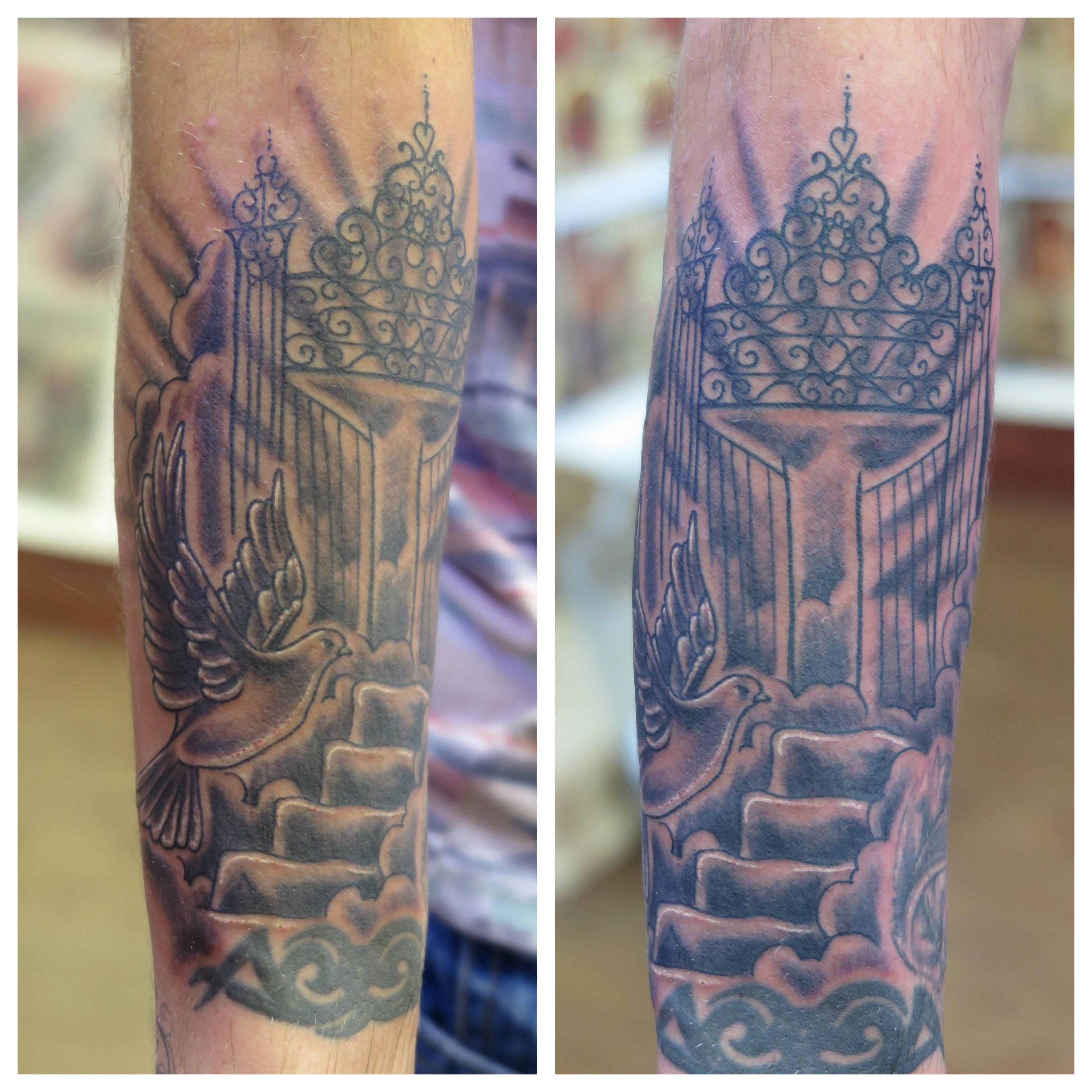 Religious irish st tattoo for Tattoos of heaven