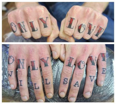 only love knuckles tattoo irish street belfast downpatrick