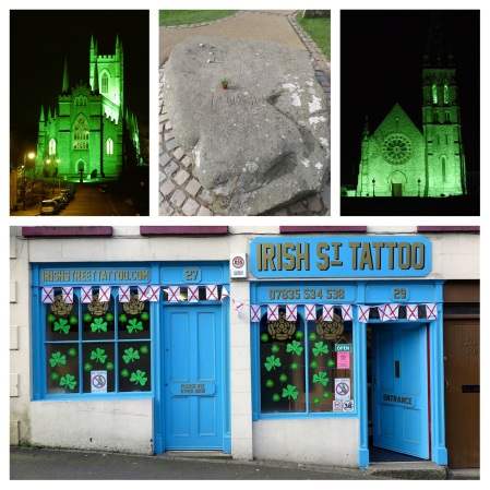 st-patricks day saint st patrick downpatrick irish street tattoo grave cathedral chapel church barry hogarth