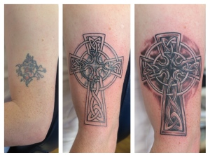 celtic cross coverup downpatrick tattoo