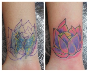 lotus flower cover tattoo downpatrick