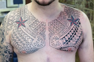 polynesian chest tattoo downpatrick