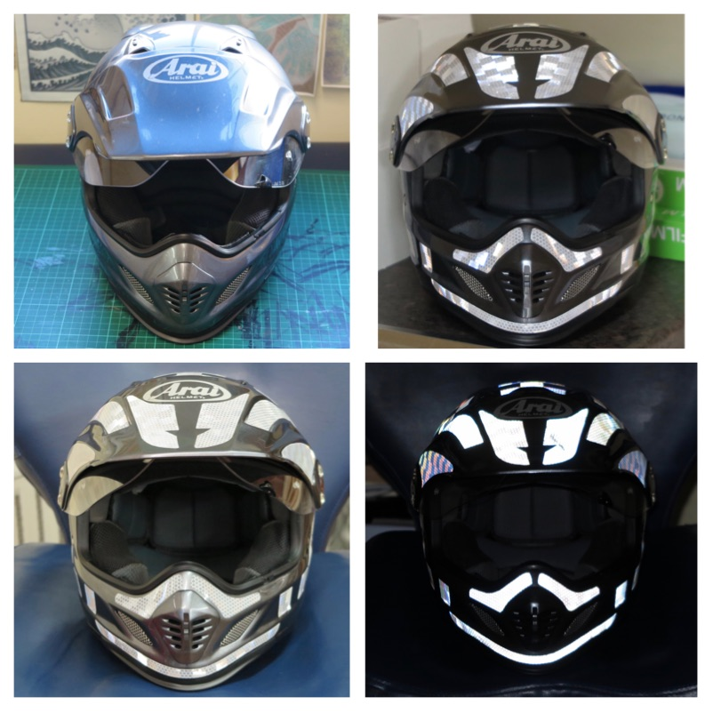 Reflective Tape Motorcycle Helmet